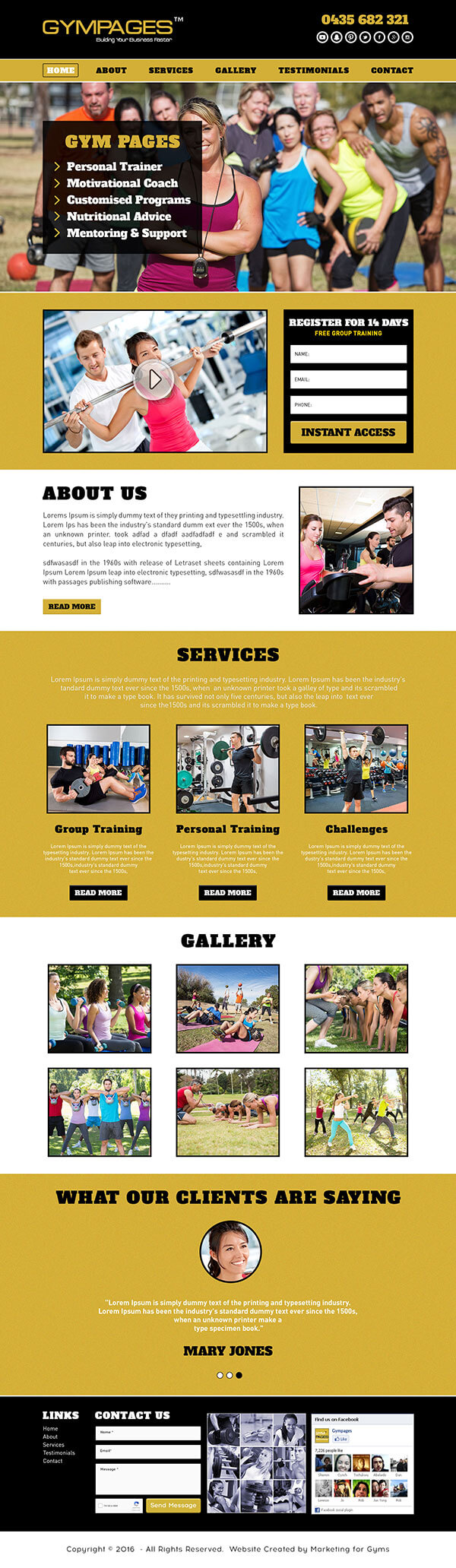 Fitness Gym Website Templates Customized Gym Web Pages